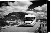 Campervan Canvas Prints - Motorhome On The A82 Road In Glencoe Highlands Scotland Uk Canvas Print by Joe Fox