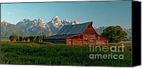Buffalo Canvas Prints - Moulton Barn I visit www.AngeliniPhoto.com for more Canvas Print by Mary Angelini