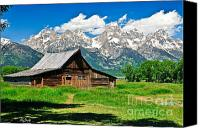 Homestead Framed Prints Photographs Canvas Prints - Moulton Barn LE Canvas Print by Greg Norrell