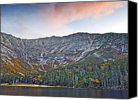 Peak Canvas Prints - Mount Katahdin from Chimney Pond in Baxter State Park Maine Canvas Print by Brendan Reals
