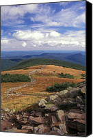 White Mountains Canvas Prints - Mount Moosilauke Summit Canvas Print by John Burk
