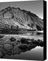 Morrison Canvas Prints - Mount Morrison and Convict Lake Monochrome Canvas Print by Scott McGuire
