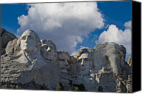 Mountain Sculpture Digital Art Canvas Prints - Mount Rushmore Elephant Canvas Print by John Haldane