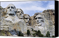 Thomas Jefferson Canvas Prints - Mount Rushmore National Monument Canvas Print by Jon Berghoff