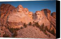 Mountain Sculpture Photo Canvas Prints - Mount Rushmore Sunrise Canvas Print by Steve Gadomski