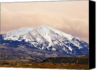 Colorado Mountains Canvas Prints - Mount Sopris Canvas Print by Marilyn Hunt