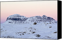 Snowy Night Canvas Prints - Mount Suilven In Winter Canvas Print by Duncan Shaw