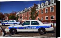 Vernon Canvas Prints - Mount Vernon Police Department Canvas Print by June Marie Sobrito