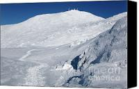 White Mountains Canvas Prints - Mount Washington - White Mountain New Hampshire USA Winter Canvas Print by Erin Paul Donovan