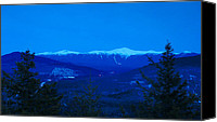 White Mountains Canvas Prints - Mount Washington and the Presidential Range at Twilight Canvas Print by John Burk