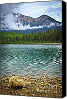 Alberta Landscape Canvas Prints - Mountain lake Canvas Print by Elena Elisseeva