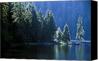 Mountain Scenes Canvas Prints - Mountain Lake In Arbersee, Germany Canvas Print by John Doornkamp