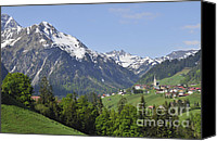 Austrian Canvas Prints - Mountain landscape in the Austrian alps Canvas Print by Matthias Hauser