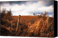 Fence. Original Canvas Prints - Mountain Pasture Canvas Print by Bob Orsillo