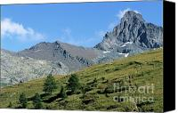Peak One Canvas Prints - Mountain peak near Saint-Veran Canvas Print by Sami Sarkis