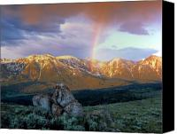 Idaho Canvas Prints - Mountain Rainbow Canvas Print by Leland Howard