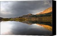 Mountain Scenes Canvas Prints - Mountain Reflection In Water, Loch Canvas Print by John Short