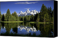 Solitude Canvas Prints - Mountain Reflections Canvas Print by Andrew Soundarajan
