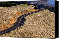 Curves Canvas Prints - Mountain Road Canvas Print by Garry Gay