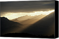 Mountain Scene Canvas Prints - Mountain Sunrise Canvas Print by André Leopold