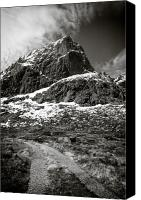 Barren Canvas Prints - Mountain Track Canvas Print by David Bowman