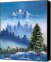 Landscape Canvas Prints - Mountain Winter Canvas Print by Joni McPherson