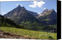 Marty Koch Canvas Prints - Mountains In Glacier Canvas Print by Marty Koch