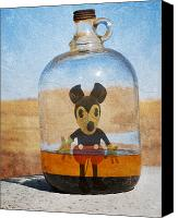 Drugs Greeting Cards Prints Canvas Prints - Mouse In A Bottle  Canvas Print by Jerry Cordeiro