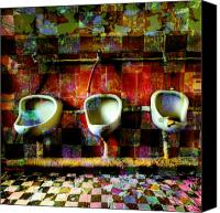 Duchamp Canvas Prints - Move Over Marcel Canvas Print by Barbara Berney