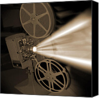 Movies Canvas Prints - Movie Projector  Canvas Print by Mike McGlothlen