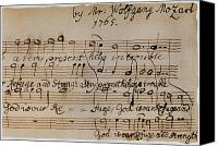 Austrian Canvas Prints - Mozart: Motet Manuscript Canvas Print by Granger