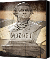 Buy Photos Online Canvas Prints - Mozart Canvas Print by Steven  Michael