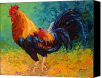 Chicken Canvas Prints - Mr Big - Rooster Canvas Print by Marion Rose
