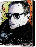 Dan Drawings Canvas Prints - Mr Fagen Canvas Print by Chris Mackie