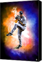 Hotel Digital Art Canvas Prints - Mr. Justin Verlander Canvas Print by Nicholas  Grunas