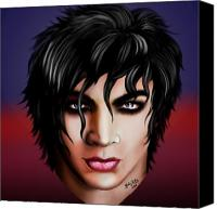 Airbrush Art Digital Art Canvas Prints - Mr. Lambert Canvas Print by Karla White