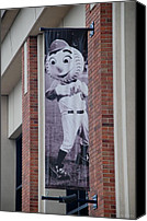 Ballpark Digital Art Canvas Prints - Mr Met Canvas Print by Rob Hans