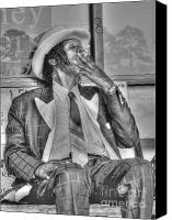 Robinson Canvas Prints - Mr Robinson Smoking Canvas Print by David Bearden