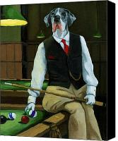 Great Dane Canvas Prints - Mr. Thomas Tudor - Great Dane portrait Canvas Print by Linda Apple