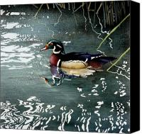 Waterfowl Canvas Prints - Mr Wood... Canvas Print by Will Bullas