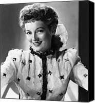 1949 Movies Canvas Prints - Mrs. Mike, Evelyn Keyes, 1949 Canvas Print by Everett