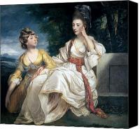 Sat Canvas Prints - Mrs Thrale and her Daughter Hester Canvas Print by Sir Joshua Reynolds