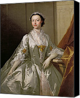 Satin Dress Canvas Prints - Mrs Wardle Canvas Print by Thomas Frye