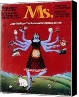 Pregnant Canvas Prints - Ms. Magazine, 1972 Canvas Print by Granger