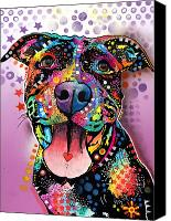 Dog Glass Canvas Prints - Ms. Understood Canvas Print by Dean Russo