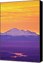Mountain Scene Canvas Prints - Mt. Baker And Fraser Valley Canvas Print by Christopher Kimmel