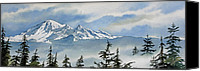 Landscape Framed Print Image Canvas Prints - Mt. Baker Mist Canvas Print by James Williamson