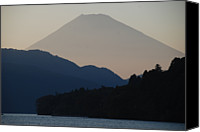 Mountain Scene Canvas Prints - Mt. Fuji In Silhouette Canvas Print by Gregor