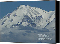 Sky Canvas Prints - Mt. Shasta Summit Canvas Print by Methune Hively