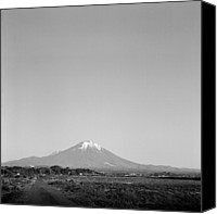 Mountain Scene Canvas Prints - Mt.daisen Canvas Print by Haribote.nobody
